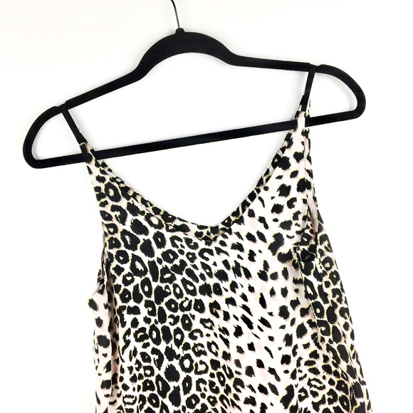 Topshop   Pink Leopard Tank w  Neon Accents 6bced7599e8